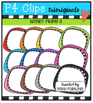 P4 WONKY Frames (P4 Clips Trioriginals Digital Clip Art)
