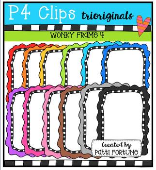 P4 WONKY Frames 4 (P4 Clips Trioriginals Digital Clip Art)