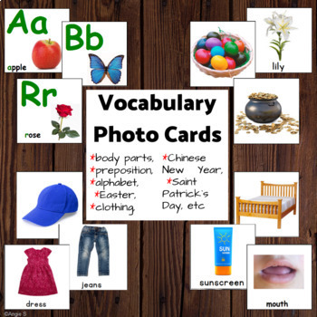 Vocabulary Cards with Pictures (pack 2)