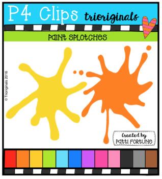 Paint Splotches (P4 Clips Trioriginals Clip Art)