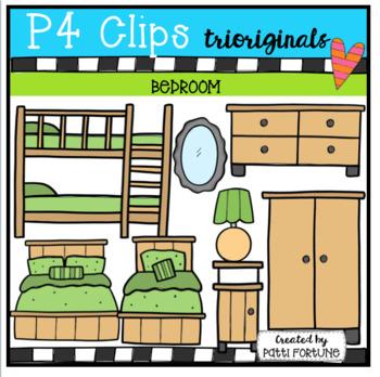 Parts of House BEDROOM (P4 Clips Trioriginals Clip Art)