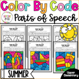 Parts of Speech Worksheets | Color By Code Summer