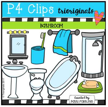 Parts of the House BATHROOM (P4 Clips Trioriginals Clip Art)
