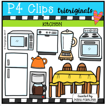 Parts of the House KITCHEN (P4 Clips Trioriginals Clip Art)