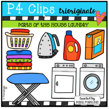 Parts of the House LAUNDRY (P4 Clips Trioriginals Clip Art)