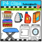 Parts of the House LAUNDRY (P4 Clips Trioriginals Clip Art)