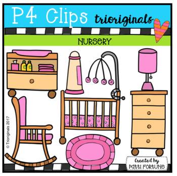 Parts of the House NURSERY (P4 Clips Trioriginals Clip Art)