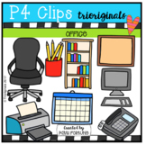 Parts of the House OFFICE (P4 Clips Trioriginals Clip Art)