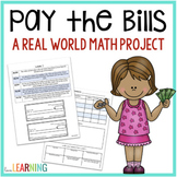 Pay the Bills - A Real World  Decimals Project: Print and Digital