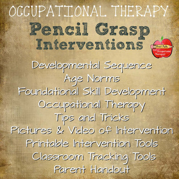 Pencil Grasp Interventions, Video, & Tracking Tools: Ages 3-8