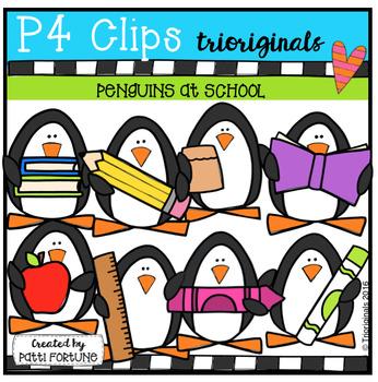 Penguins At School (P4 Clips Trioriginals Digital Clip Art)