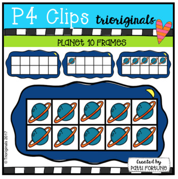 Planet 10 Frames (P4 Clips Trioriginals Clip Art)