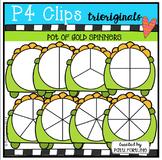 Pot of Gold Spinners (P4 Clips Trioriginals Clip Art)
