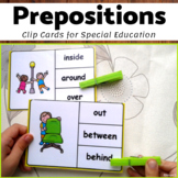 Prepositions Activity - Clip Cards