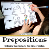 Prepositions-Color the Right Answer Worksheets