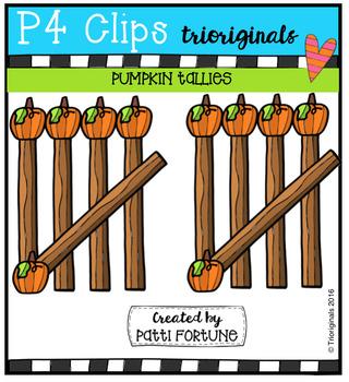 Pumpkin Tallies (P4 Clips Trioriginals Digital Clip Art)