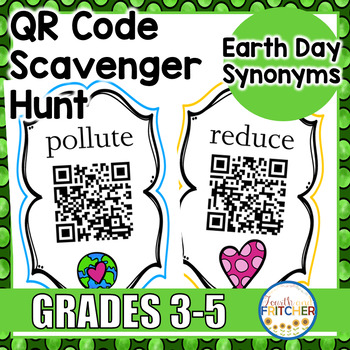 Earth Day Synonyms QR Code Activity