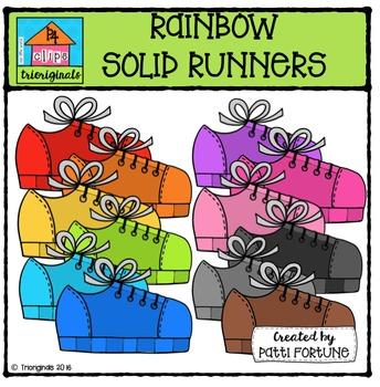 RAINBOW Runners {P4 Clips Trioriginals Digital Clip Art}