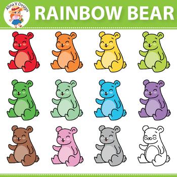 Rainbow Bear Clipart