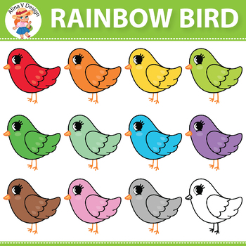 Rainbow Bird Clipart