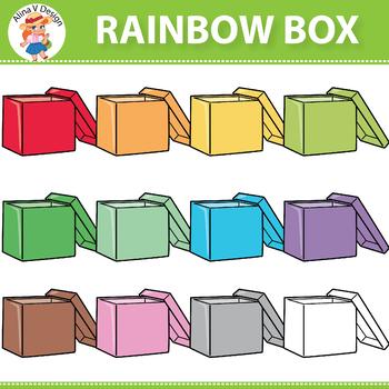 Rainbow Box Clipart