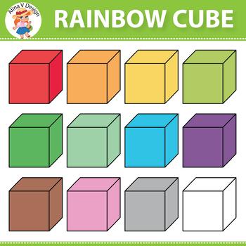 Rainbow Cube Clipart