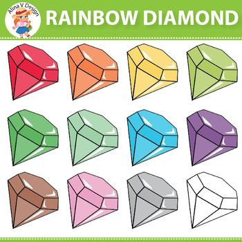 Rainbow Diamond Clipart