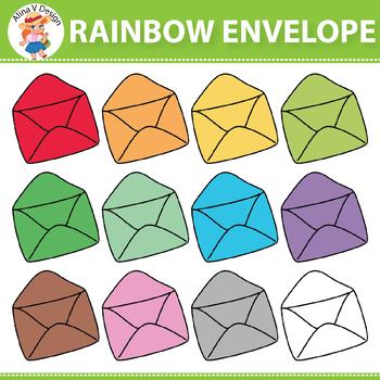 Rainbow Envelope Clipart