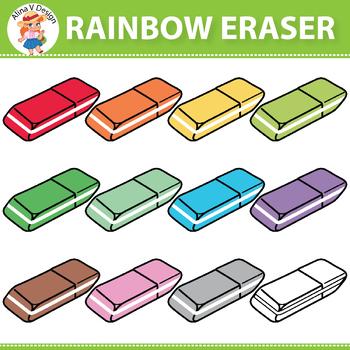 {50% OFF} Rainbow Eraser Clipart