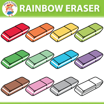 Rainbow Eraser Clipart