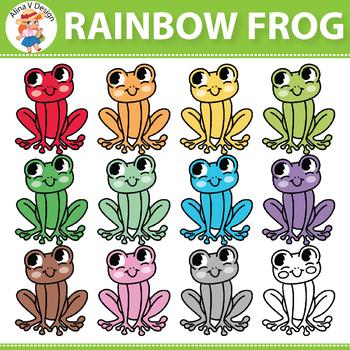 Rainbow Frog Clipart