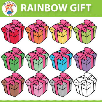 Rainbow Gift Clipart