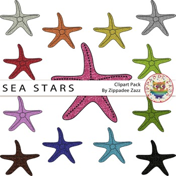 {50% OFF} Rainbow Glitter Sea Stars / Starfish and Line ar