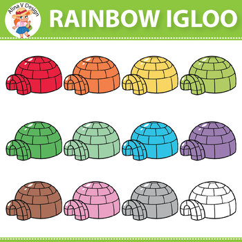 Rainbow Igloo Clipart