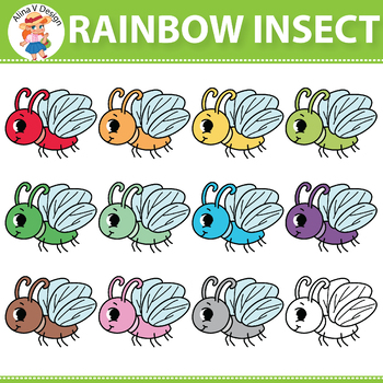 Rainbow Insect Clipart