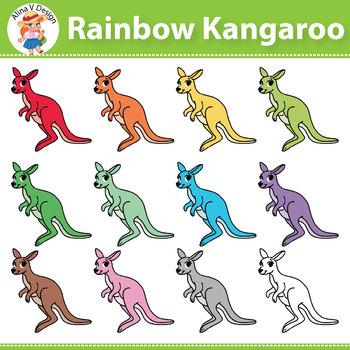 Kainbow Kangaroo Clipart