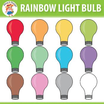 Rainbow Light Bulb Clipart