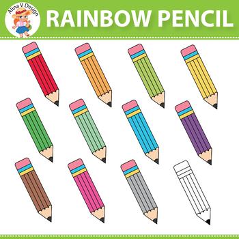 Rainbow Pencil Clipart