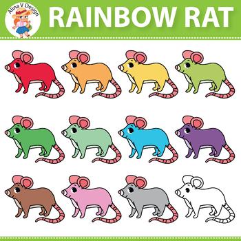 Rainbow Rat Clipart