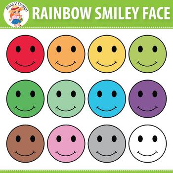 Rainbow Smiley Face Clipart
