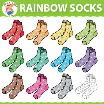 Rainbow Socks Clipart