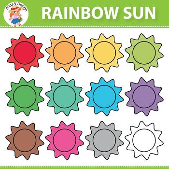 Rainbow Sun Clipart