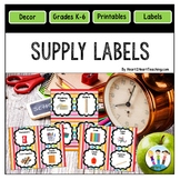 Rainbow Colored Classroom Supply Labels