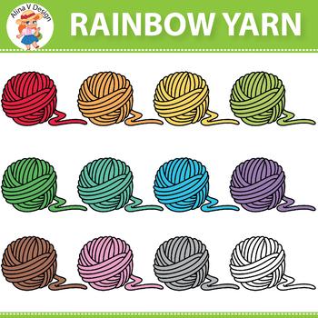 Rainbow Yarn Clipart