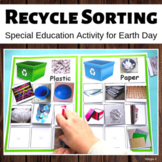 Earth Day Activity - Recycle Sorting for Special Education