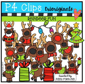 Reindeer Fun (P4 Clips Trioriginals Clip Art)