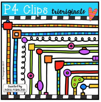 Robot Frames (P4 Clips Trioriginals Clip Art)