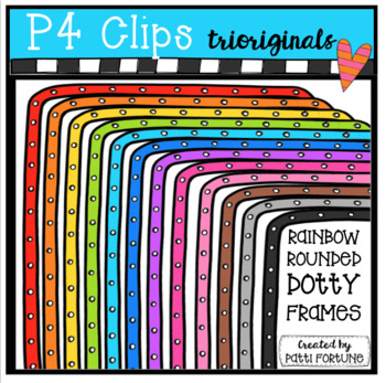 Rounded Dotty Frames (P4 Clips Trioriginals Clip Art)