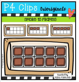 S'more 10 Frames (P4 Clips Trioriginals Clip Art)