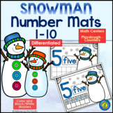 SNOWMAN Math Number / Playdough Mats 1-10 ~ Kindergarten Common Core